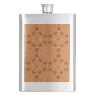 Rust-Mandala, Colors of Rust_843_2 Hip Flask