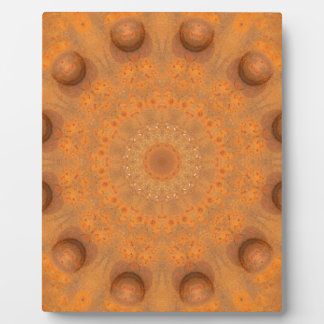 Rust-Mandala, Colors of Rust_843_2 Plaque