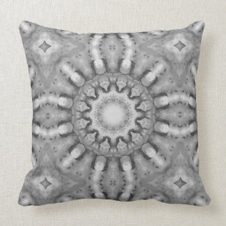 Rust-Mandala, ROSTart  728, black & white Cushion