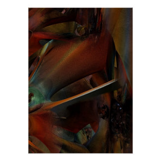 Rust modern abstract poster