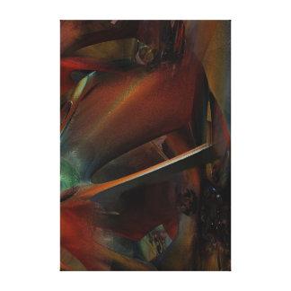 Rust modern abstract wallart canvas print