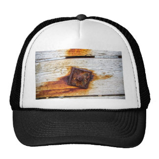 Rust on Wood Mesh Hat