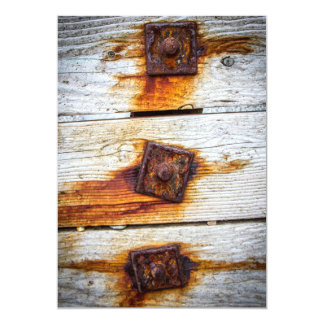 Rust on Wood Invitation Personalized Announcement