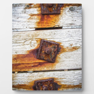 Rust on Wood Plaques
