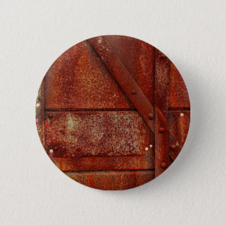 Rust Red Industrial Rivets 6 Cm Round Badge