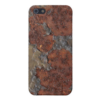 Rust texture (brown flaky rusted iron) even pitted iPhone 5 case