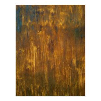 Rust Textured Original Painting Postcard