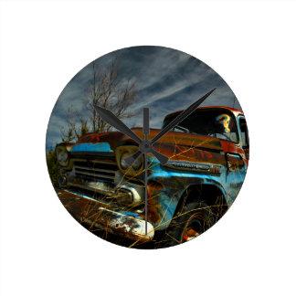 Rusted Apache Round Clock