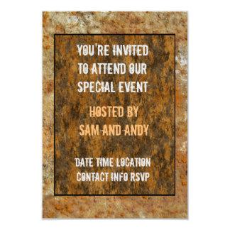 Rusted Art 9 Cm X 13 Cm Invitation Card