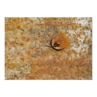 Rusted Art 5x7 Paper Invitation Card