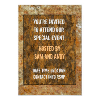 Rusted Art 3.5x5 Paper Invitation Card