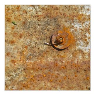 Rusted Art 5.25x5.25 Square Paper Invitation Card