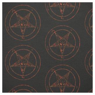 Rusted Baphomet Pentagram Goth Pattern Fabric