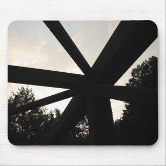 Rusted Bridge Railing Mouse Pad