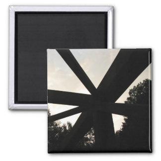 Rusted Bridge Rainling Square Magnet