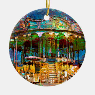 RUSTED CARNIVAL MEMORIES ROUND CERAMIC DECORATION