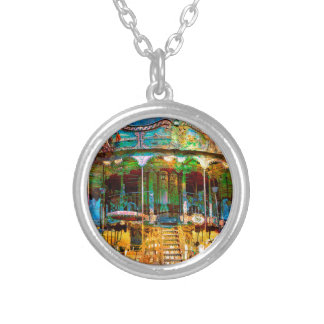 RUSTED CARNIVAL MEMORIES SILVER PLATED NECKLACE