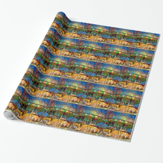 RUSTED CARNIVAL MEMORIES WRAPPING PAPER