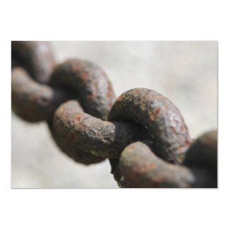 Rusted chain with big links personalized invitations
