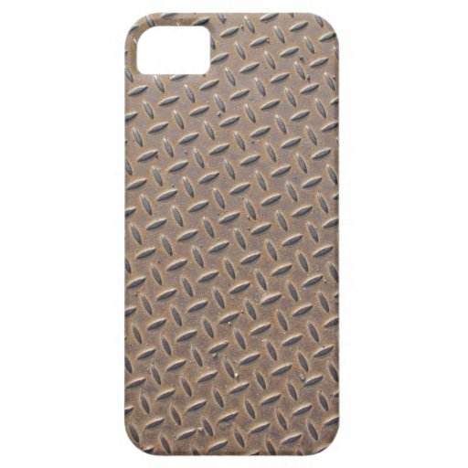 Rusted checker plate made from steel or metal iPhone 5 cover