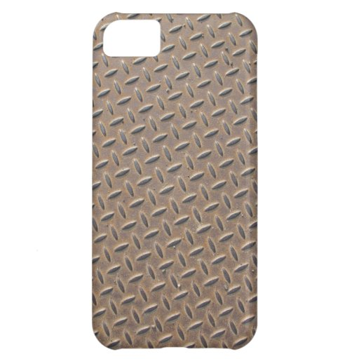Rusted checker plate made from steel or metal case for iPhone 5C