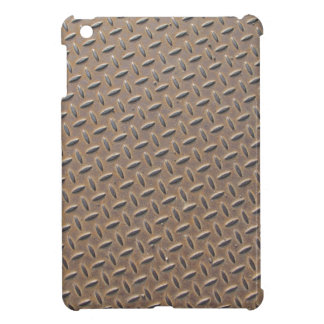 Rusted checker plate made from steel or metal cover for the iPad mini