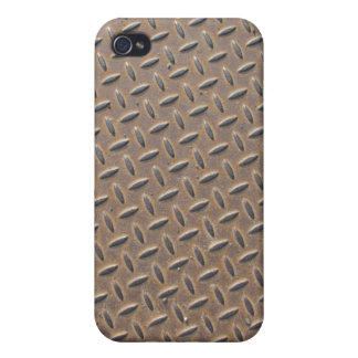 Rusted checker plate made from steel or metal iPhone 4 covers