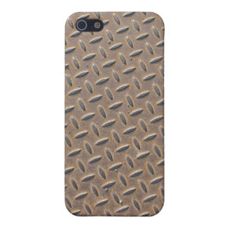 Rusted checker plate made from steel or metal iPhone 5 covers
