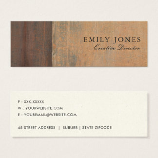 RUSTED CORROSIVE GRUNGE ORANGE METAL TEXTURED MINI BUSINESS CARD