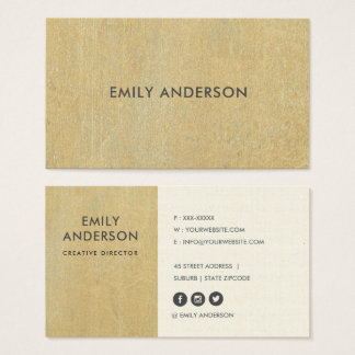 RUSTED CORROSIVE GRUNGE YELLOW METAL TEXTURED BUSINESS CARD