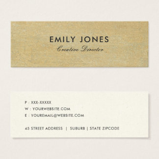 RUSTED CORROSIVE GRUNGE YELLOW METAL TEXTURED MINI BUSINESS CARD