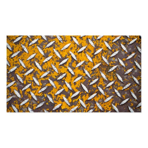 Rusted Diamond Plate Metal Pack Of Standard Business Cards