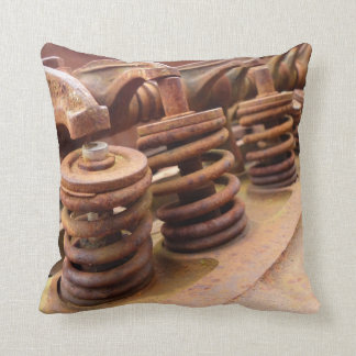 Rusted Engine Parts Manly Automotive Theme Cushion