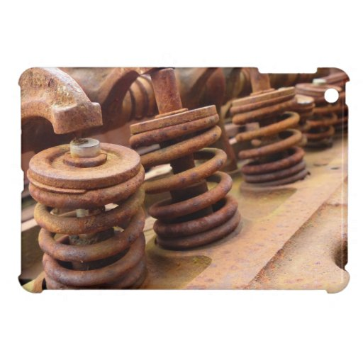Rusted Engine Parts Manly Automotive Theme Case For The iPad Mini