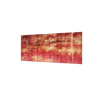 Rusted Gold And Red Abstract Landscape Canvas Canvas Print