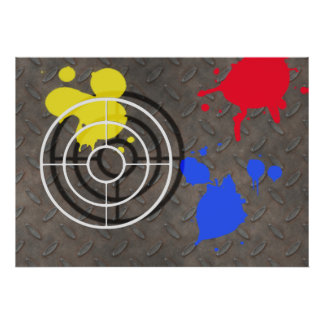 Rusted Grate with Gun Sight Poster