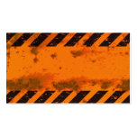 Rusted Hazard Stripes Background Pack Of Standard Business Cards