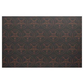 Rusted Iron Baphomet Demon Goth Fabric