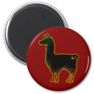Rusted Llama Magnet