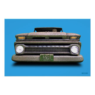 Rusted Old Vintage Colorado Pick Up Truck Poster