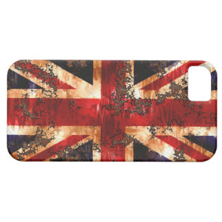 Rusted Patriotic United Kingdom Flag Barely There iPhone 5 Case