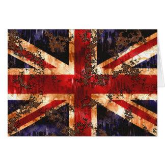 Rusted Patriotic United Kingdom Flag Card