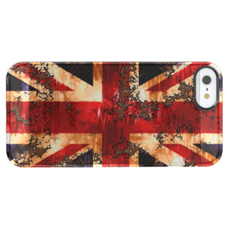 Rusted Patriotic United Kingdom Flag Clear iPhone SE/5/5s Case