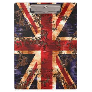 Rusted Patriotic United Kingdom Flag Clipboard