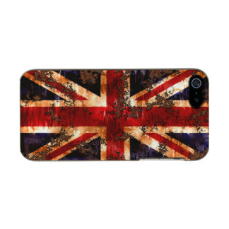 Rusted Patriotic United Kingdom Flag Incipio Feather® Shine iPhone 5 Case