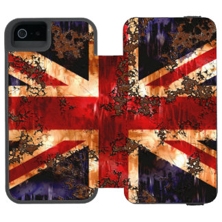 Rusted Patriotic United Kingdom Flag Incipio Watson™ iPhone 5 Wallet Case