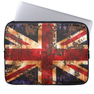Rusted Patriotic United Kingdom Flag Laptop Sleeve