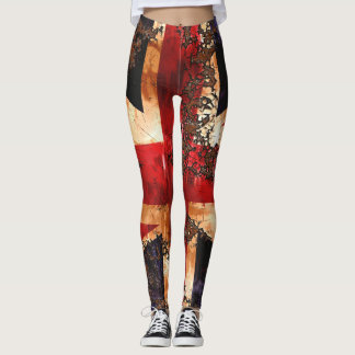 Rusted Patriotic United Kingdom Flag Leggings