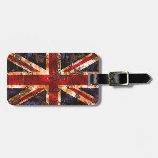 Rusted Patriotic United Kingdom Flag Luggage Tag