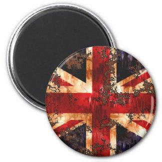 Rusted Patriotic United Kingdom Flag Magnet